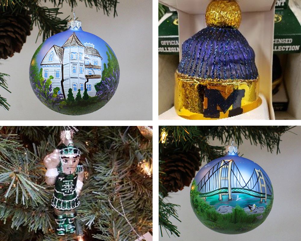 Michigan-themed ornaments