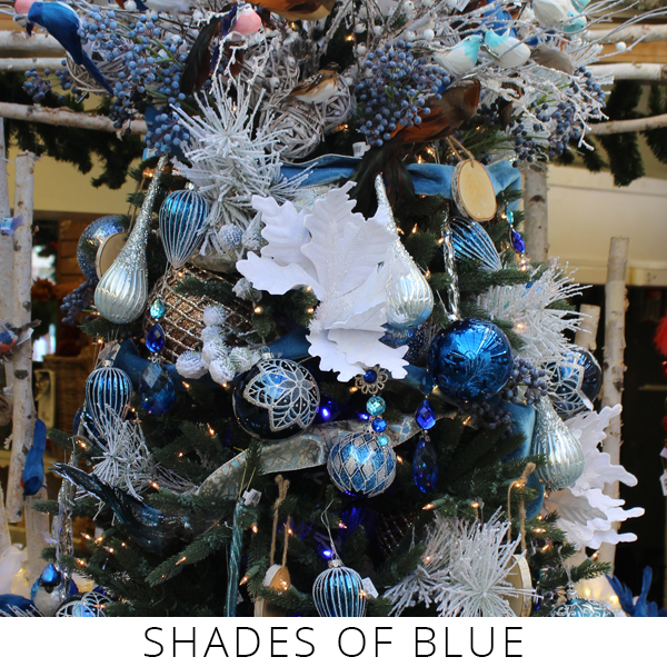 Theme Trees shades of blue
