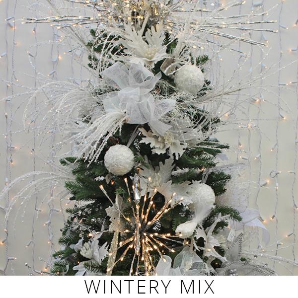 Theme Trees winter mix