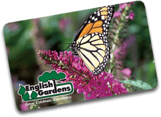 English Gardens Gift Card | Butterflies Design