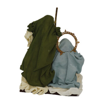 Holy Family Nativity in Beige and Green