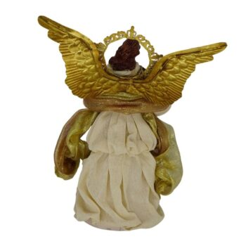 Beige and Gold Angel Christmas Figure, 10 inches tall