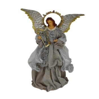 Silver Angel Christmas Figure, 14 inches tall