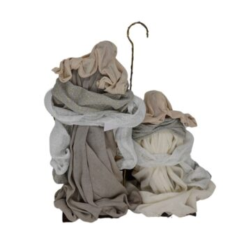 Silver Holy Family, 14 inches tall