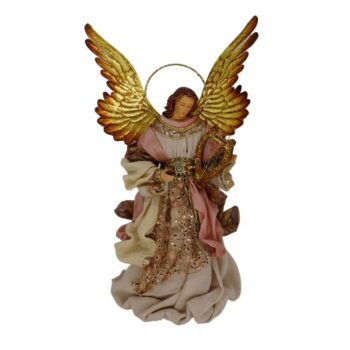 Rose Gold Angel Christmas Figure, 14 inches tall