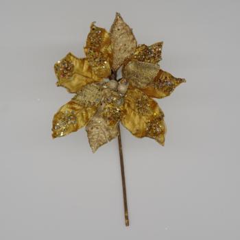 Gold Glitter Poinsettia