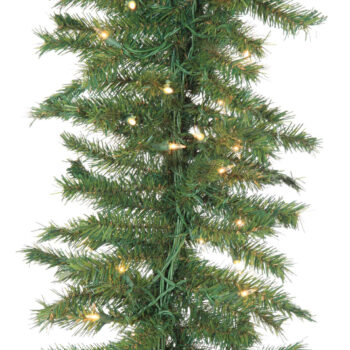 9-foot Winchester Fir Artificial Christmas Garland Pre-lit with Sure Lit Incandescent Lights