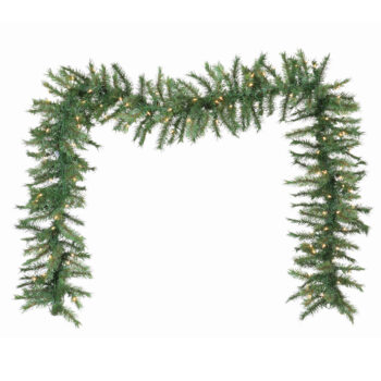9-foot Glacier Fir Artificial Christmas Garland Pre-lit with Sure Lit Incadescent Lights