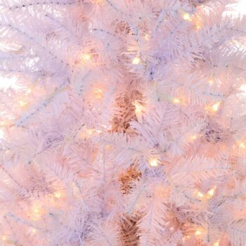 5-foot Slim White Fir Artifical Christmas Tree Pre-lit with 250 Clear Sure Lit Lights