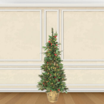 Potted Fir Entrance Pre-lit Artificial Christmas Trees