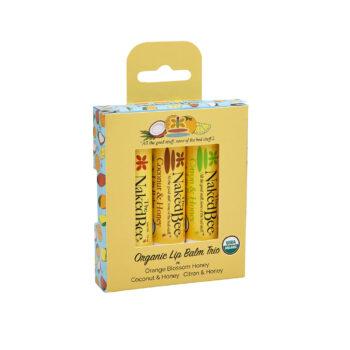 Organic Lip Balm Trio Gift Set
