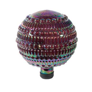 Iris Beaded Embossed Gazing Globe, 10 inch