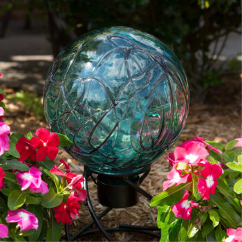 Teal Crackle Gazing Globe, 10 inch