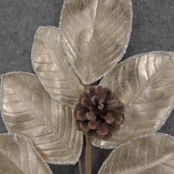 Magnolia Cone Leaf Spray