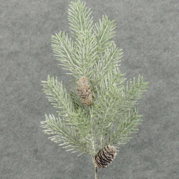 Frosted Glitter Natural Pine Cone Branch
