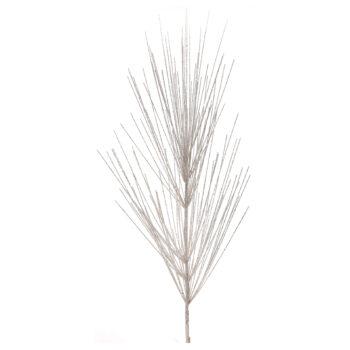 Giant Glitter White Pine Spray