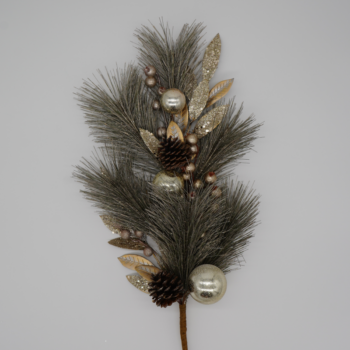 Champagne and Gold Arctic Alabaster Rustic Branch