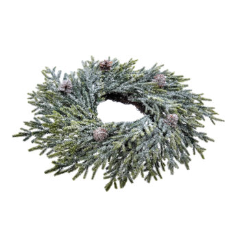 Frosted Mini Fir Candle Ring