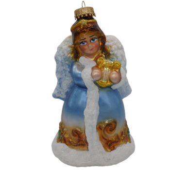 Angel with Harp Christmas Ornament