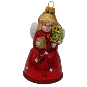 Angel with Tree Christmas Ornament