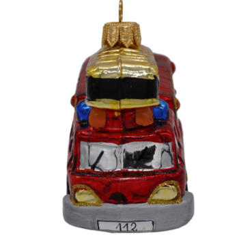 Fire Truck Christmas Ornament