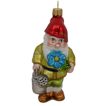 Gnome with Flower Christmas Ornament