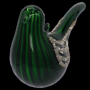 Green Glitter Bird Christmas Ornament