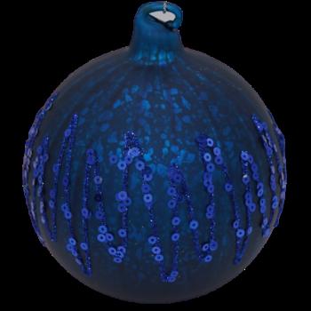 Dark Blue Sequin Glitter Christmas Ornament