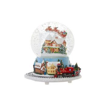 Santa's Spinning Musical House Water Globe