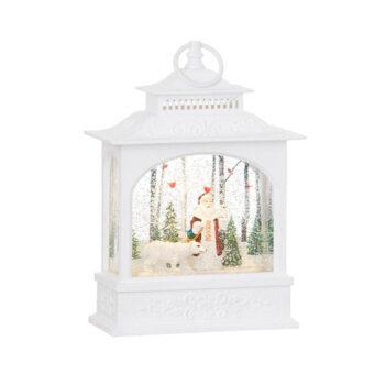 Woodland Santa Water Lantern