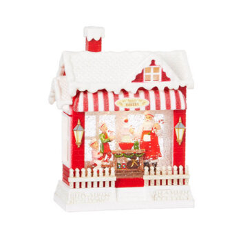 Santa's Musical Lighted Water Bakery