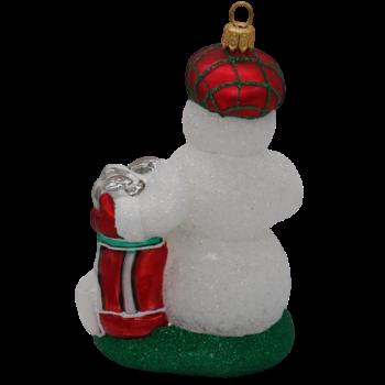 Golfing Snowman Christmas Ornament