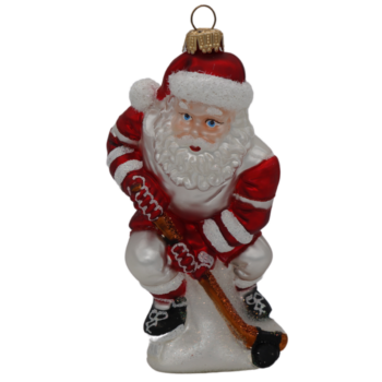Hockey Santa Christmas Ornament