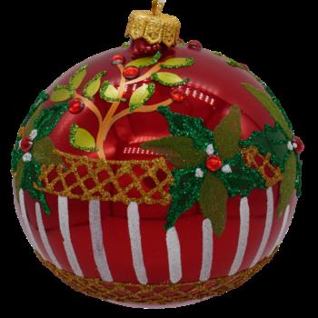 Holly Glitter Christmas Ornament
