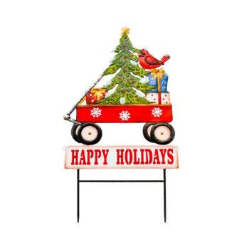 Christmas Wagon Yard Stake