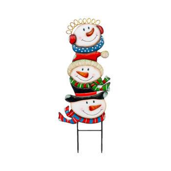 Snowman Trio Yard Stake