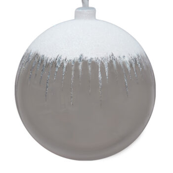 Snowfall Silver Shatter Resistant Ornament, 6 inch