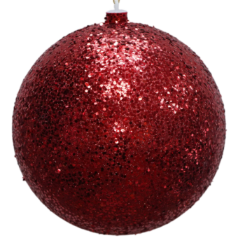 Red Glitter Shatter Resistant Ornament, 9 inch