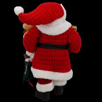 Santa and Bear Christmas Figure