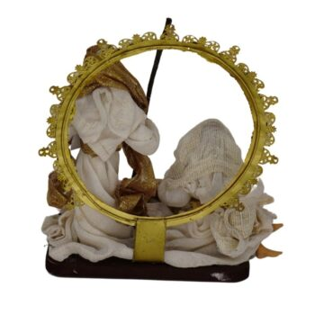 Beige and Antique Gold Holy Family, 7 inches tall
