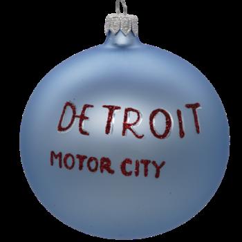 Detroit Motor City Christmas Ornament