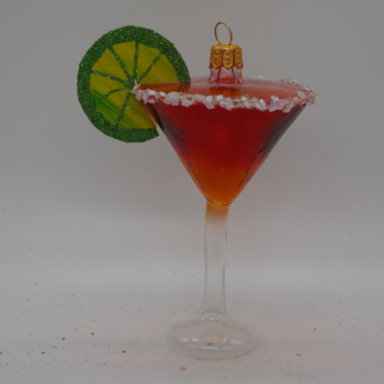 Cosmopolitan with Lime Christmas Ornament