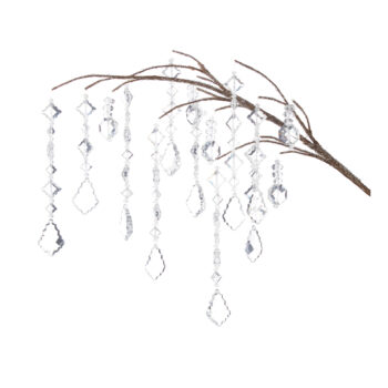 Clear Jeweled Dripping Branch