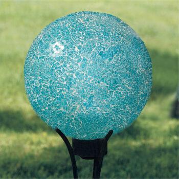 Aqua Mosaic Gazing Globe, 10 inch