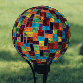 Rainbow Mosaic Gazing Globe, 10 inch