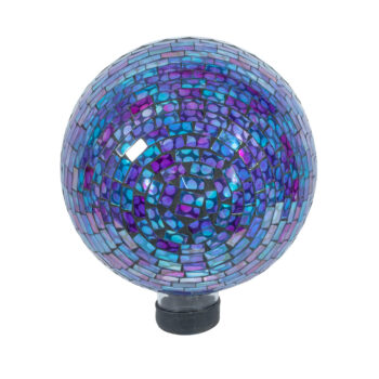 Blue Violet Mosaic Gazing Globe, 10 inch