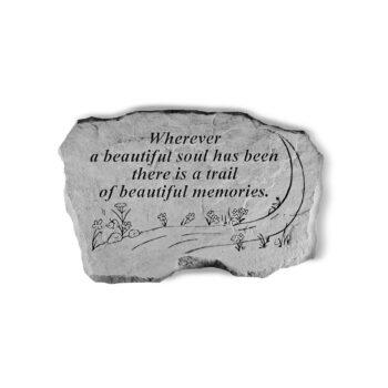 Trail of Beautiful Memories Memorial Stone, 16 inches