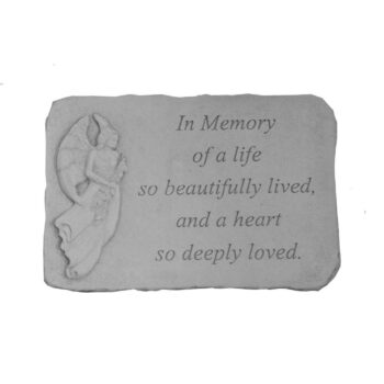 In Memory Of Memorial Stone, 15 inches