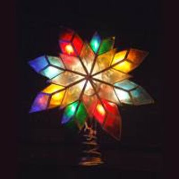 10-inch Capiz Star Tree Top with Multi Incandescent Lights