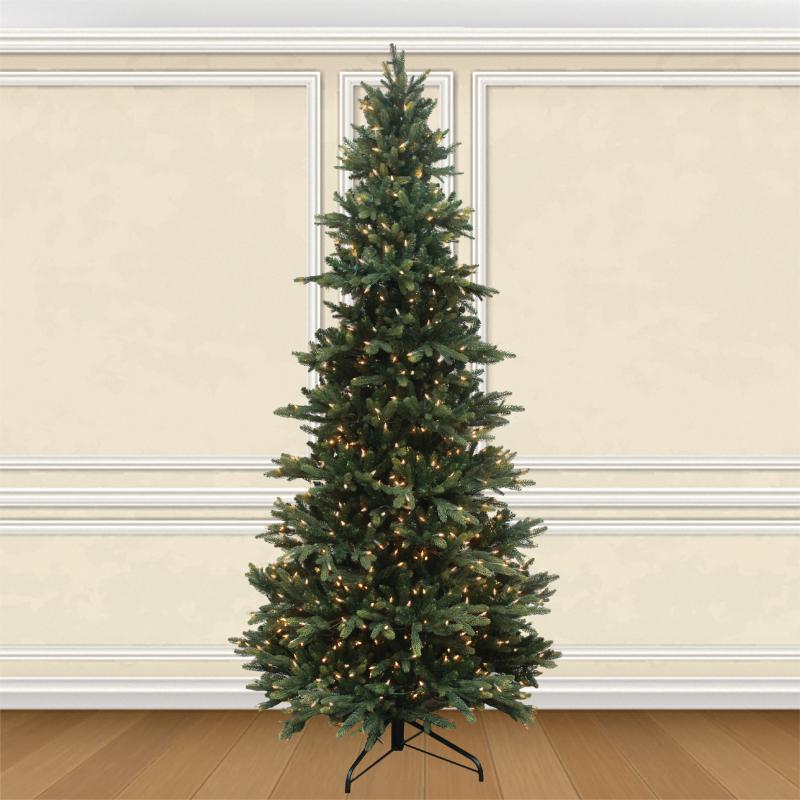 Get Pre Lit Deluxe Layered Fraser Fir Artificial Christmas